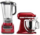 Kitchenaid Set: Küchenmaschine + Standmixer in rot für 467,49€ (statt 579€)