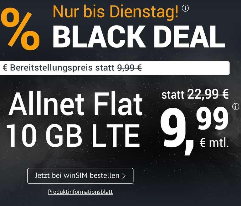 Knaller!  o2 Allnet & SMS Flat mit 10GB LTE für 9,99€ mtl. (keine Anschlussgebühr, mtl. kündbar!)
