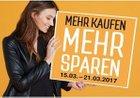 Galeria Kaufhof: Mehr kaufen, mehr sparen 15 – 20% Rabatt bis 21.3.17