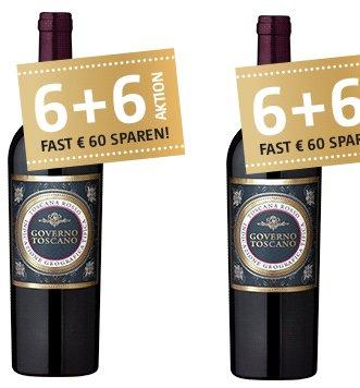 12 Flaschen Governo Toscano Rotwein (2016) für 59,70€ inkl. Versand