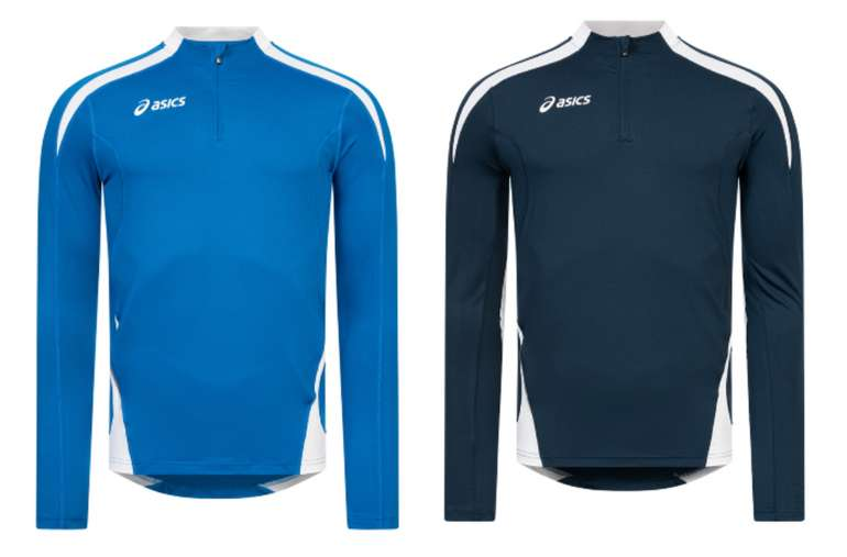 Asics Crew Sweat Ben 1/4-Zip Herren Lauf Sweatshirt für 16,94€inkl. Versand (statt 25€)