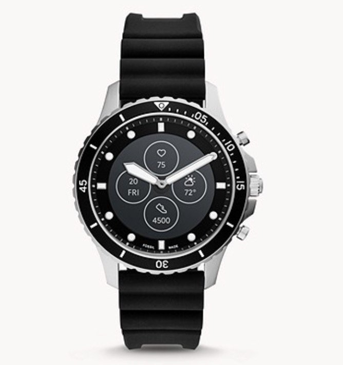 Fossil HR FB-01 Hybrid-Smartwatch mit Silikon-Armband für 97,30€ inkl. Versand (statt 159€)