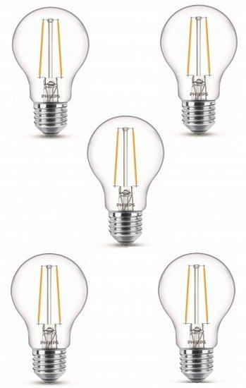 5er Pack Philips LEDclassic 1.5W E27 warmweiß (2700 Kelvin. 150 Lumen) für 9,99€ (statt 16€)