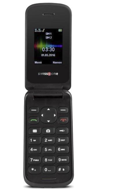 Swisstone SC 330 - Einstiegs Klappmobiltelefon in rot oder schwarz für 14,94€ inkl. Versand (statt 28€)