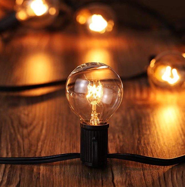 Tomshine Lichterkette (ca. 8 Meter, Außenbereich) für 16,24€