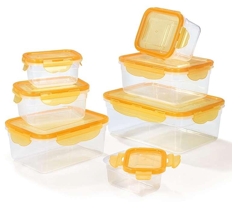 14-tlg. Hoberg Frischhaltedosen Set mit 4-fach-Klick-Verschluss für 9,94€ inkl. Versand (statt 18€)