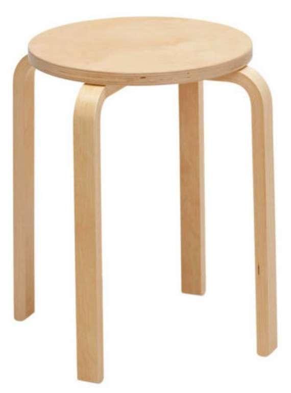 Stapelhocker bzw. Sitzhocker aus Birke Nachbildung (Höhe 45cm) für 10,51€