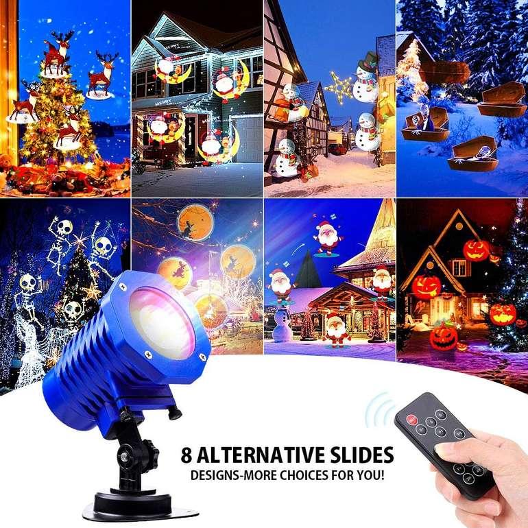 Tvird wasserdichter LED Projektor mit 16 Motiven für 13,99€ (Prime)