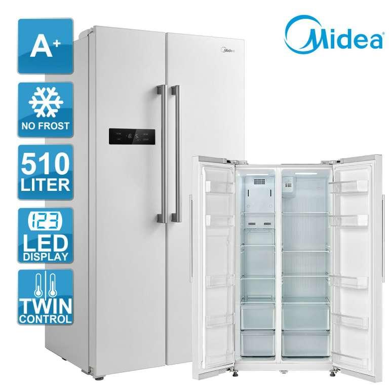 Midea KS 6.1 W Side-by-Side Kühl-Gefrierkombination (No Frost, LED-Display, A+) für 449,91€ inkl. Versand