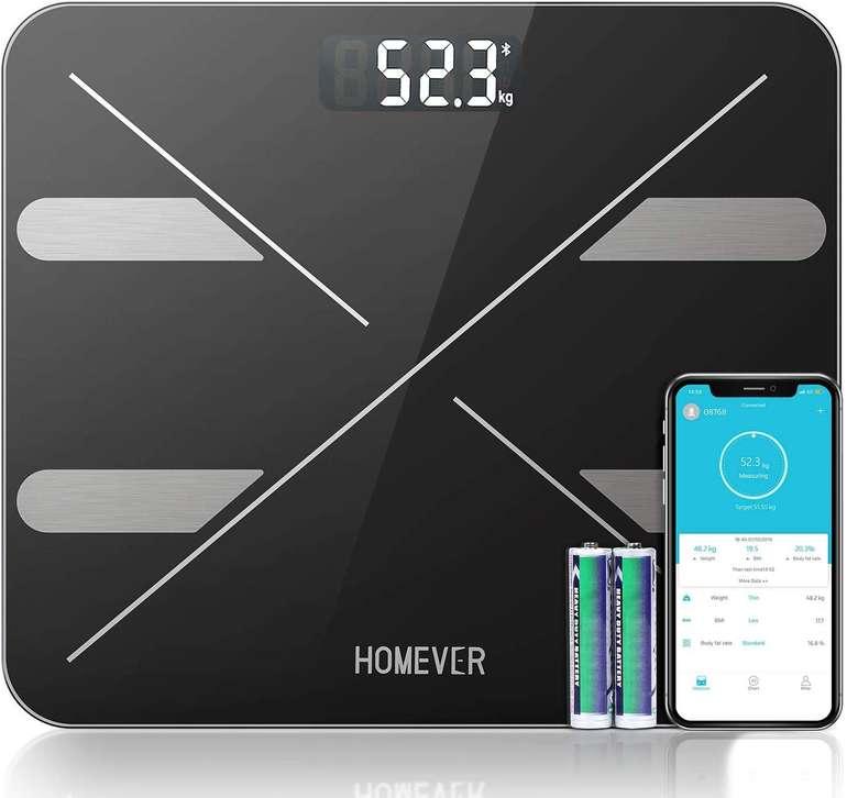 Homever - Digitale Personenwaage mit Bluetooth & APP für 14,99€ inkl. Prime Versand