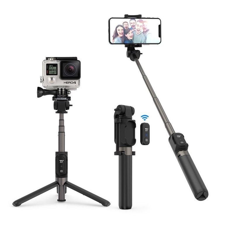 TaoTronics Selfie Stick Stativ für Gopro Action Kamera + Fernbedienung ab 16,99€
