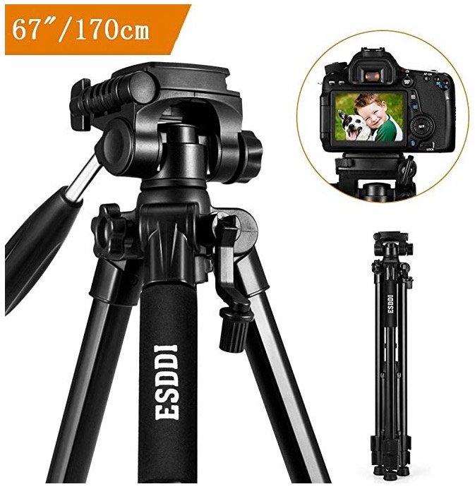 Esddi 67'' Kamerastativ mit Handy-Halterung und Tasche für 23,99€ inkl. Versand