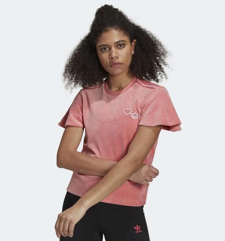 Adidas Originals Velours Damen T-Shirt für 24,50€ (statt 35€) - Creators Club!