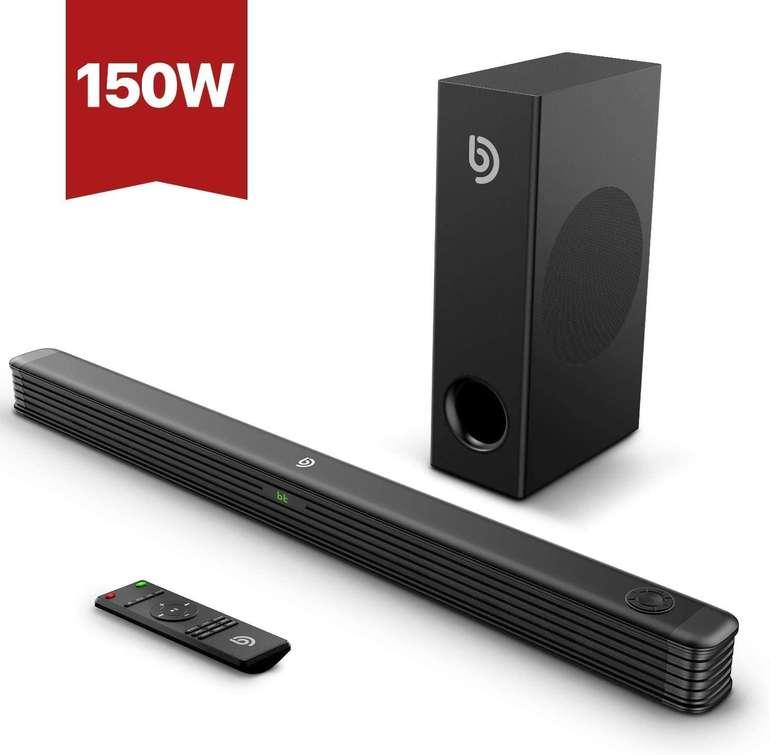 Bomaker Njord I Soundbar mit Wireless Subwoofer (150 Watt, Bluetooth) für 84,49€ inkl. Versand (statt 130€)