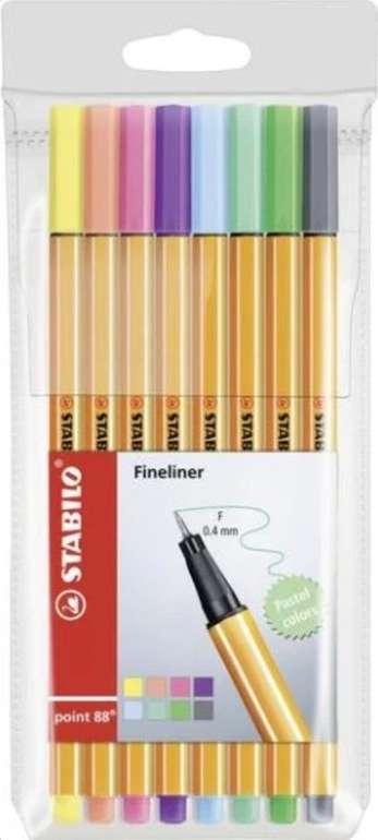8er Set Stabilo Fineliner point 88 (Pastellfarben) für 3,43€ inkl. Versand (statt 7€) - Thalia Club!