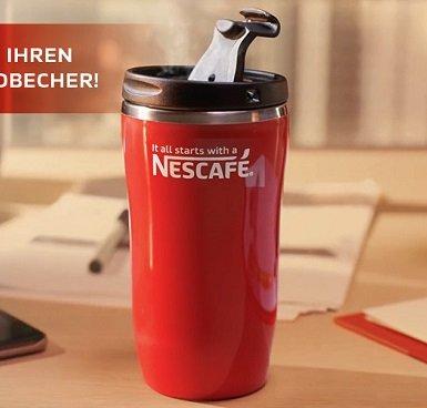 Zwei Nescafé Classic Produkte kaufen & Thermobecher gratis bekommen