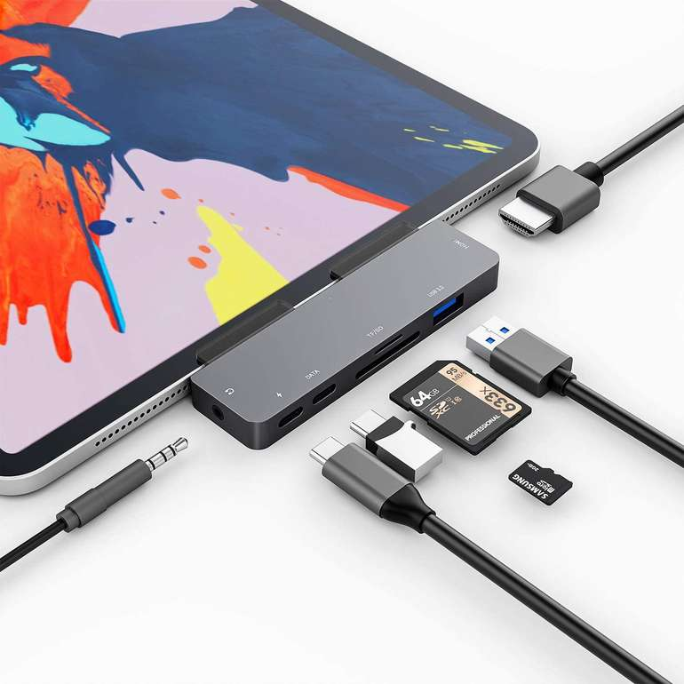 3XI 7-in-1 USB C Hub (iPad Pro, MacBook kompatibel) für 20,79€ inkl. Versand (statt 40€)