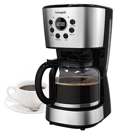 Homgeek Kaffeemaschine für 12 Tassen mit Display & Timer für 24,99€