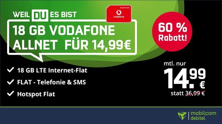 Mobilcom Vodafone green Allnet Flat 2
