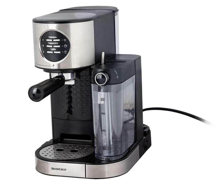 Silvercrest Espressomaschine mit Milchaufschäumer (SEMM 1470 A1) für 84,94€ inkl. Versand (statt 124€)