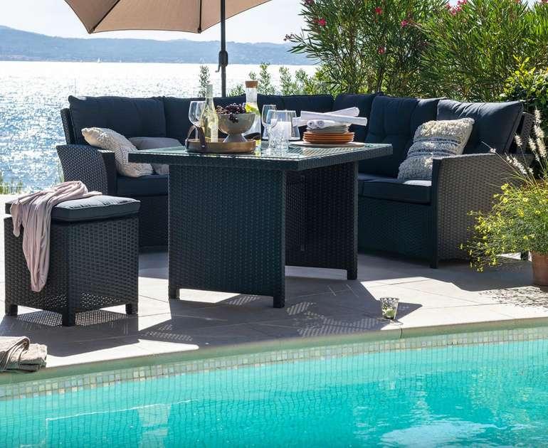A casa mia Lounge-Set Lochau (integriertes Stahlgestell) für 602,33€ inkl. Versand (statt 850€)