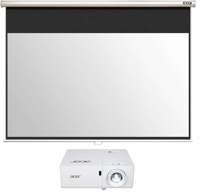 ACER PL1521i Laser Beamer + ACER M90-W01MG Leinwand für 895,84€ inkl. Versand (statt 995€)