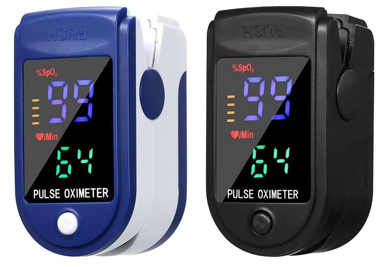 Anself 2x Fingerspitzenmessgerät mit OLED-Display in Schwarz & Blau für 8,99€ inkl. Prime Versand (statt 45€)