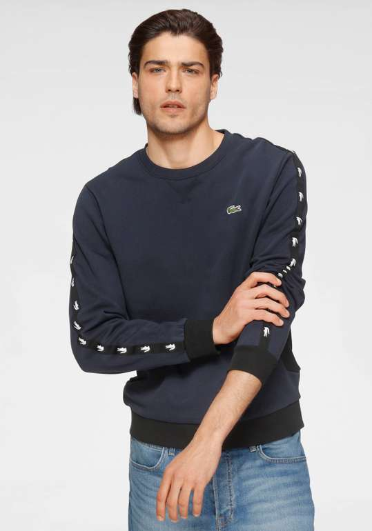 Lacoste Sweatshirt in Navy/Weiß für 53,94€ inkl. Versand (statt 80€) - S bis L