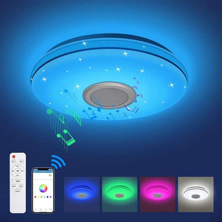 Kingso 24W Bluetooth Deckenleuchte (RGB, IP54) für 30,79€ (statt 44€)