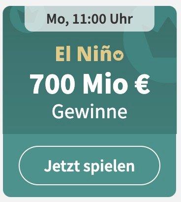 1/100 El Niño Los - Die spanische DreikönigsLotterie mit 700 Mio € Gewinnen für 1€ (statt 4,50€) - Neukunden!