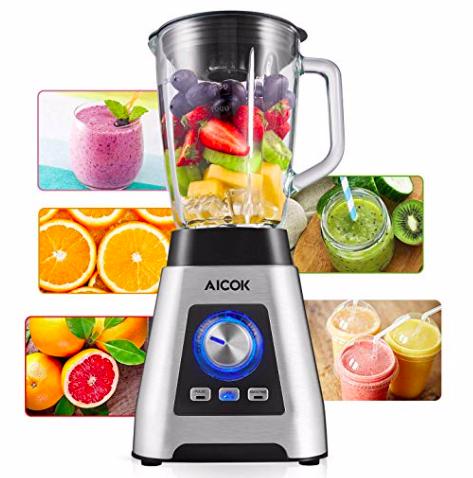 Aicok Standmixer (1,5 Liter, 1000W, 24.000 U/min, ohne BPA) für 39,59€ inkl. VSK