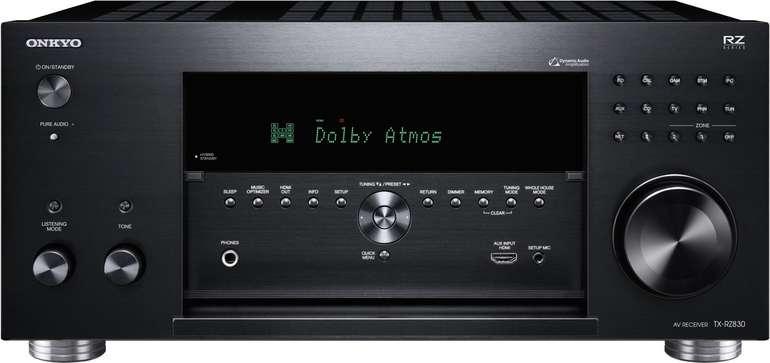 Onkyo TX-RZ 830-B schwarz THX AV Receiver (THX Kinosound, Dolby Atmos, DTS:X, 4K) für 699,90€