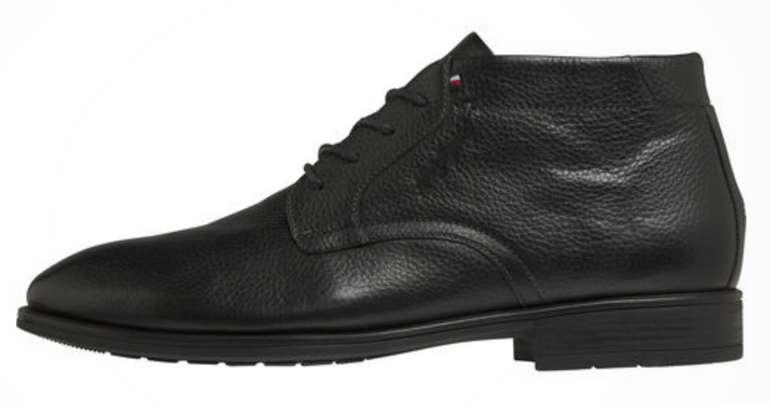 Tommy Hilfiger Schnürstiefeletten in schwarz für Herren zu 76,30€ inkl. Versand (statt 124€)