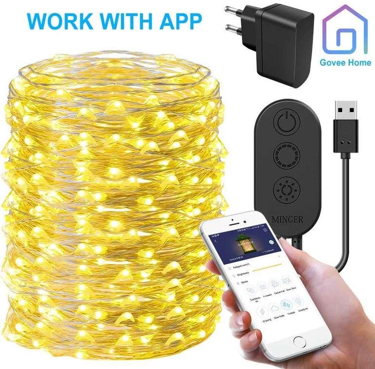 20 Meter Minger wasserdichte LED Draht Lichterkette mit 200 LEDs für 6€ (Prime)