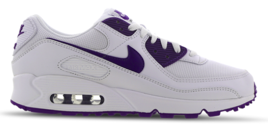 Nike Air Max 90 Herren Sneaker in weiß-lila für 79,99€inkl. Versand (statt 104€)