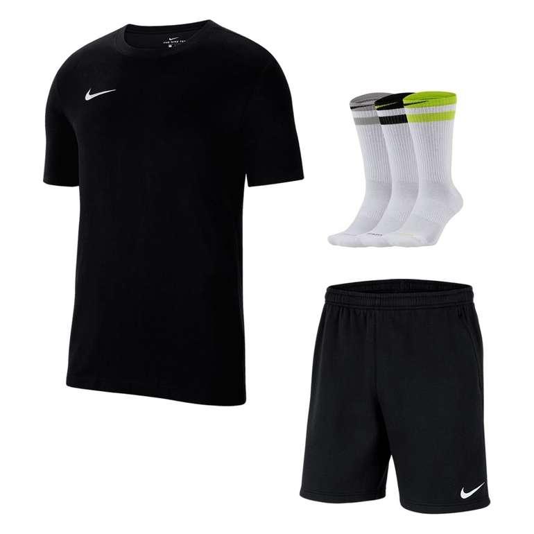 Nike Baumwoll Outfit Team Park 20 (vers. Farben, 3-teilig) für 39,95€inkl. Versand (statt 52€)