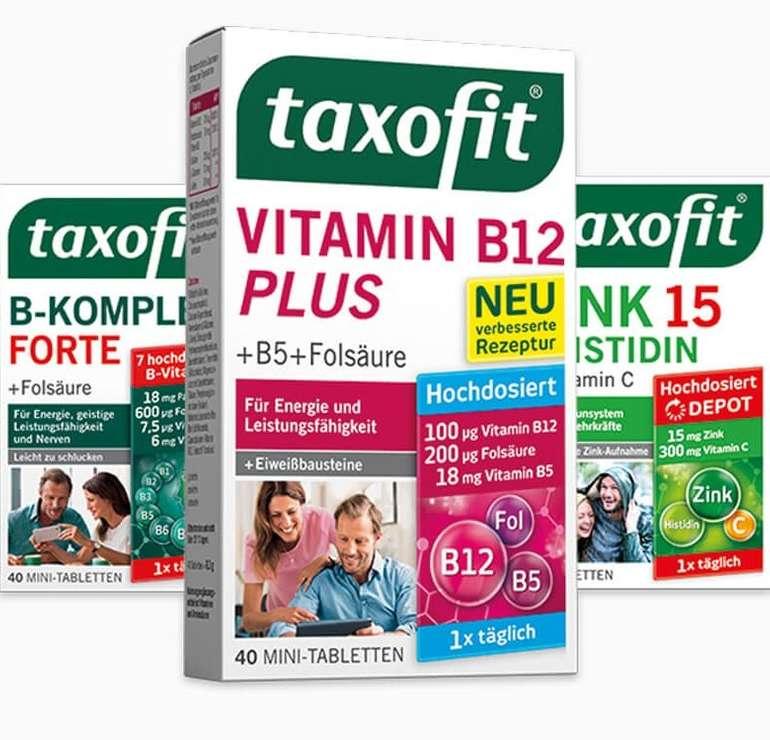 Taxofit: Nahrungsergänzungsmittel gratis testen dank Geld-zurück-Garantie