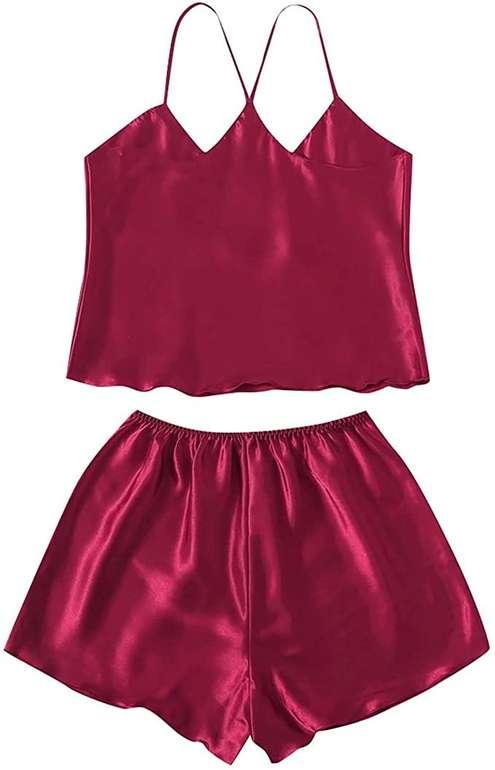 Chlry Damen Satin Pyjama in 3 Farben für je 3,99€ inkl. Versand (statt 12€)