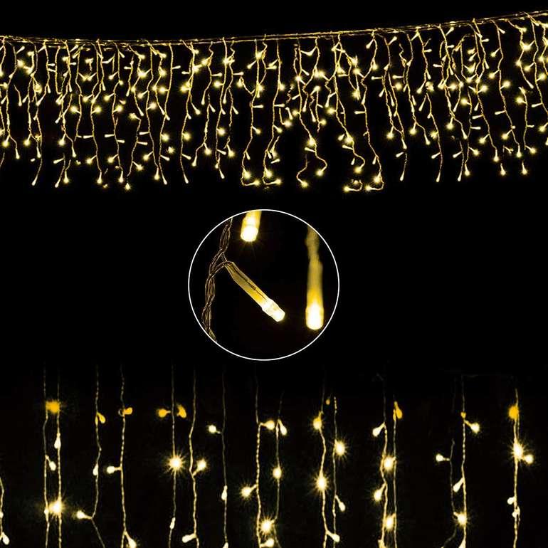 -30% auf verschiedene Vingo Eisregen Lichterketten, z.B. 400 LEDs warmweiß für 20,29€