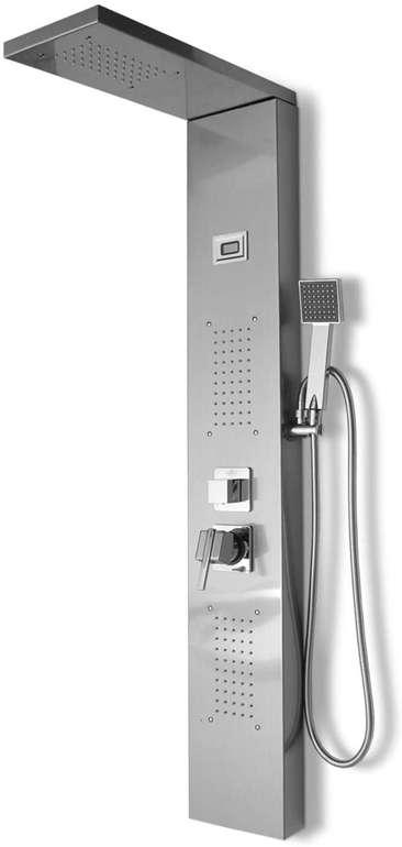 Hengda Duschpaneel mit LCD Display, Regendusche & Massagedüsen (2 Farben) ab 88,19€ inkl. Versand (statt 126€)