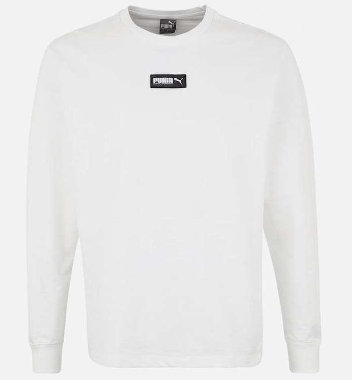 """Puma Herren Sweatshirt """"Fusion Crew FL"""" in weiß für 21,53€ inkl. VSK (statt 50€)"""