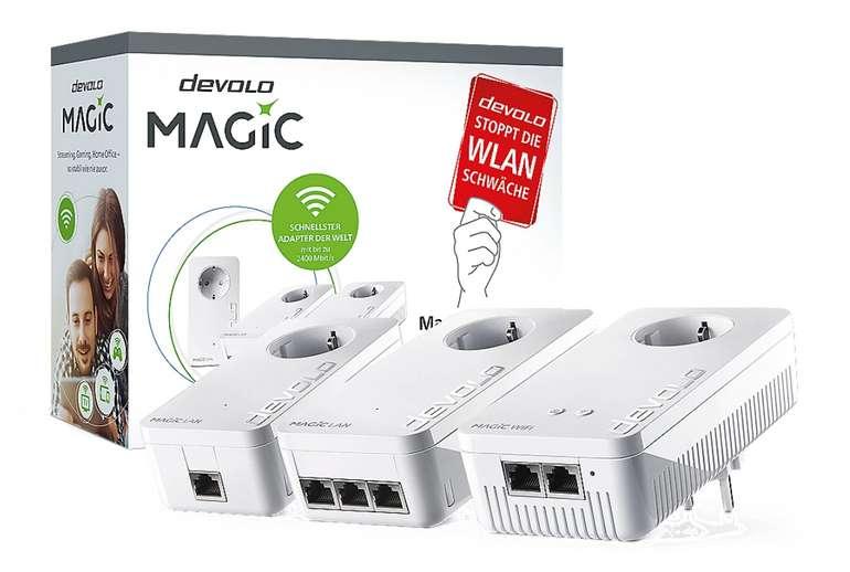 Devolo Magic 2 WiFi Streaming Kit (2400Mbit, Powerline + WLAN ac, 6x LAN, Mesh) für 194,89€inkl. Versand
