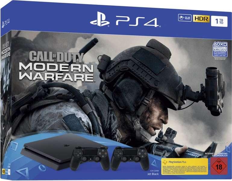 Sony Playstation 4 1TB Jet Black + 2 Controller - Call of Duty: Modern Warfare für 249,99€ (statt 300€)