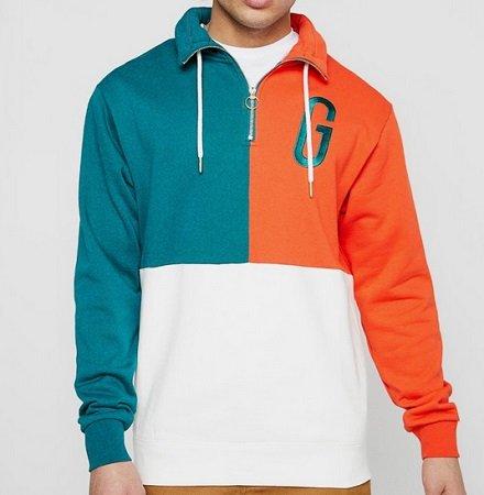 Grimey Wear Herren Pullover Midnight g Logo in Grün/Orange für 25,90€ inkl. VSK (statt 40€)