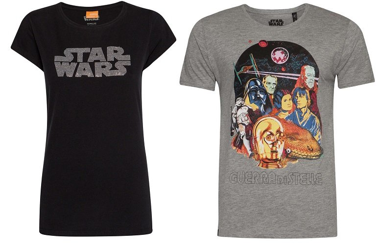 SportSpar: Star Wars Sale mit bis zu -50% Rabatt + 25% Extra (2. Artikel), z.B. 2 Shirts für 16,18€
