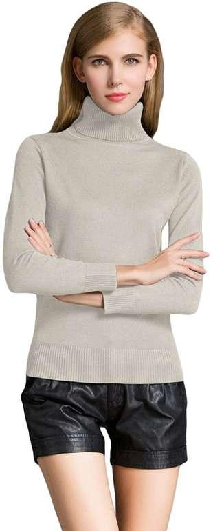 Romacci Damen Rollkragenpullover in 11 Farben für je 12,59€ inkl. Prime Versand (statt 21€)