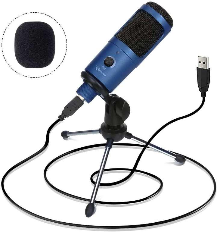Eivotor USB Kondensatormikrofon mit Stativ für 16,11€ inkl. Prime Versand (Statt 25€)