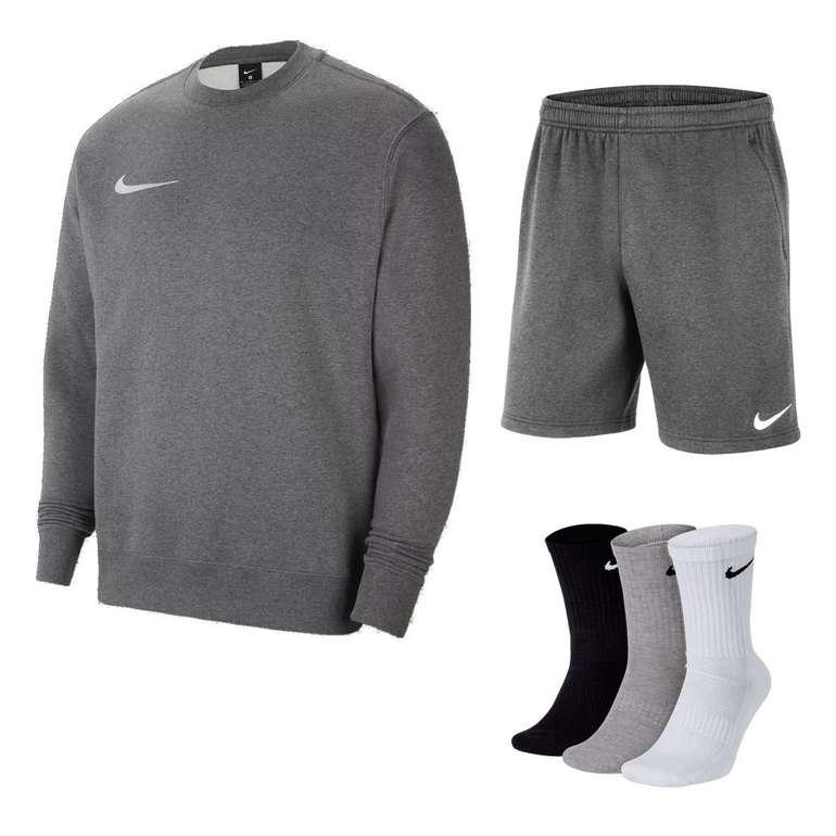 Nike Team Park 20 Outfit (Sweatshirt, Shorts & Socken) für 49,95€ inkl. Versand (statt 59€)
