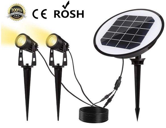 Greempire - LED Solarleuchten Set mit 2 Erdspieß-Lampen für 15,80€ inkl. VSK