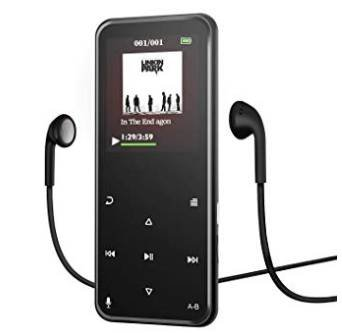 Soulcker - 8GB MP3-Player mit Bluetooth, Radio & Voice-Recorder 19,19€ (Prime)